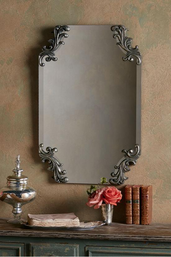 Nanette Mirror Beveled Mirror Scalloped Mirror Soft