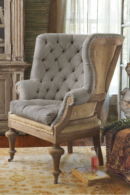 Charmant Fontaine Wingback Chair   Tufted Wingback Chair, Wingback Chair, Linen  Upholstered Chair | Soft Surroundings