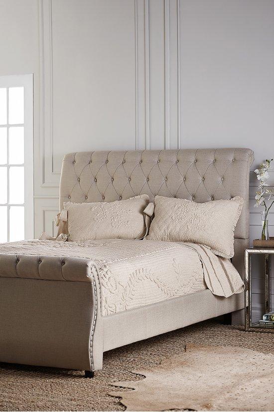 upholstered sleigh beds. Kierland Upholstered Sleigh Bed - Tuffted Frame | Soft  Surroundings Upholstered Sleigh Beds