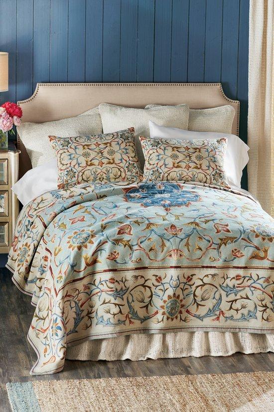 Augusta Tapestry Coverlet Fl, Soft Surroundings Bedding